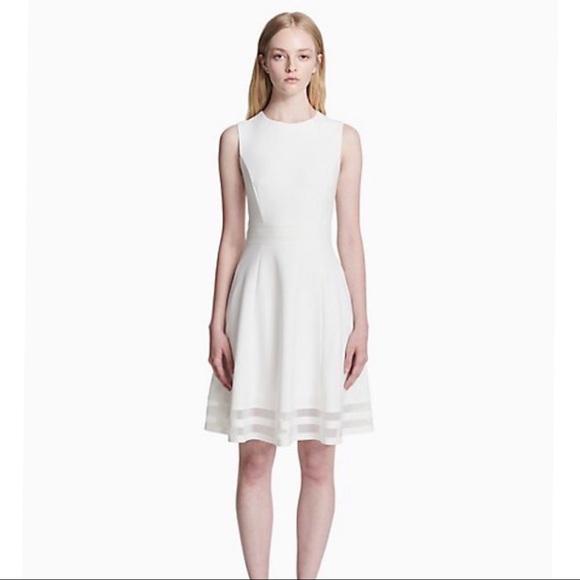 7bc37d4b Calvin Klein Dresses & Skirts - Calvin Klein Illusion Trim Fit + Flare Dress